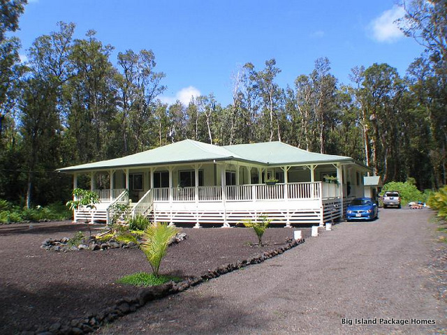 Big island package homes designs and sells owner builder for Aloha package homes